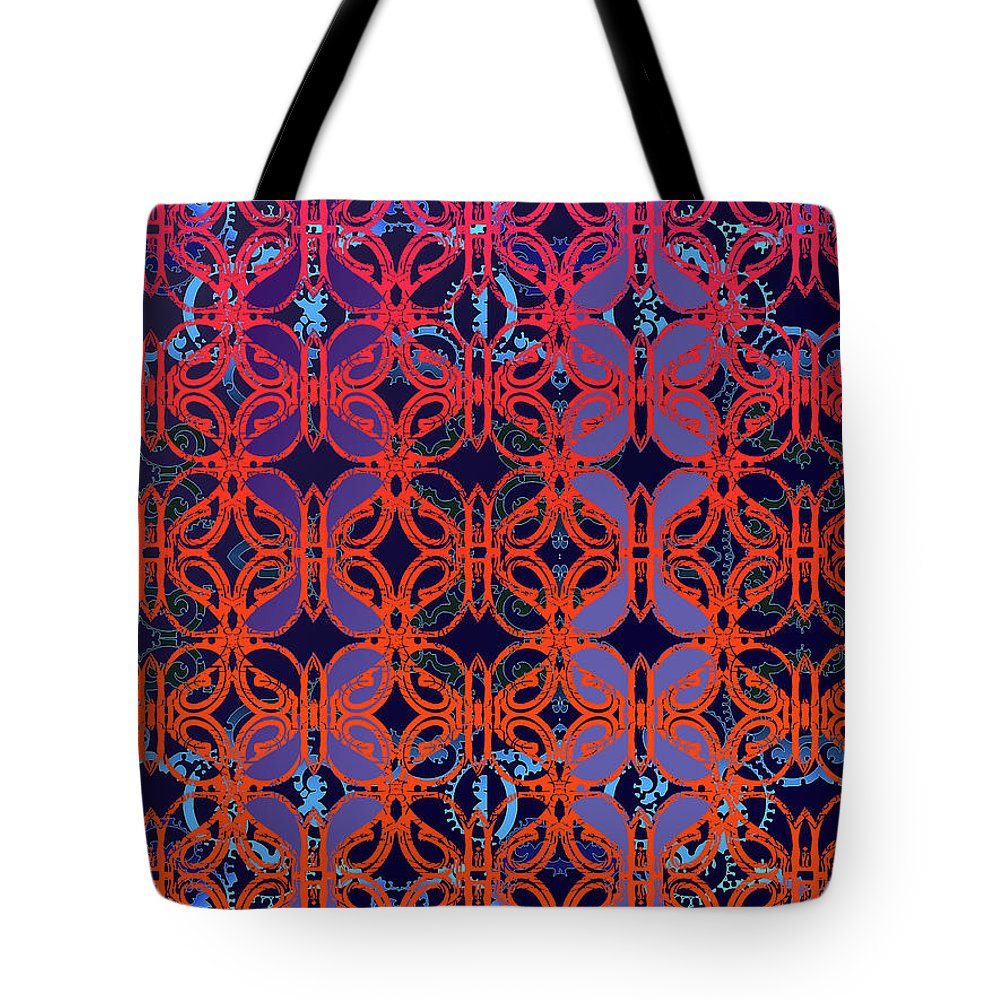 Hot Red Tote Bag featuring the digital art Cobalt Crimson by Ceil Diskin