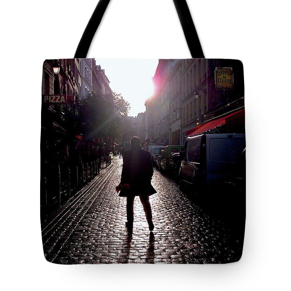Paris Tote Bag featuring the photograph Cobblestone Path Home Paris by Felipe Adan Lerma