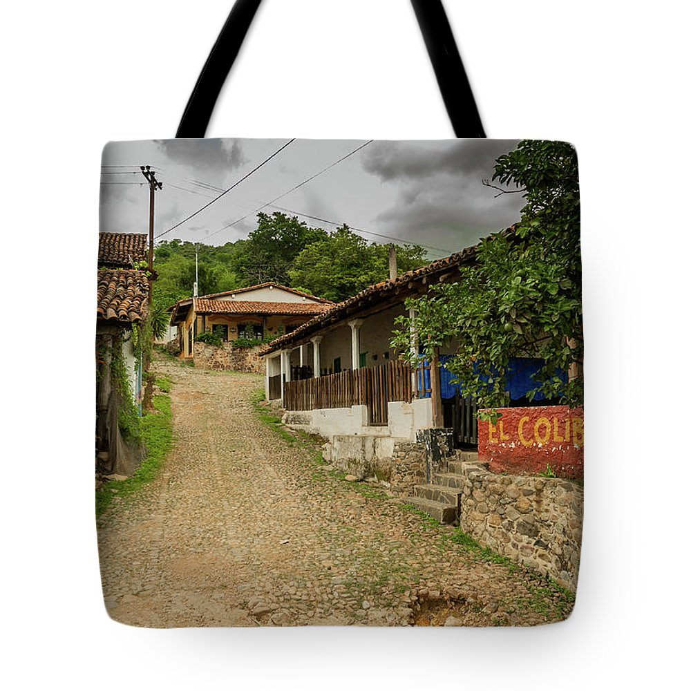 Landscape Tote Bag featuring the photograph Cobblestone Street by Javier Flores