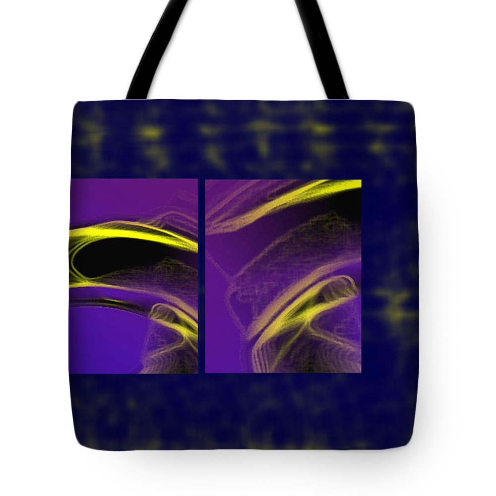 Abstract Tote Bag featuring the digital art Cobra by Steve Karol
