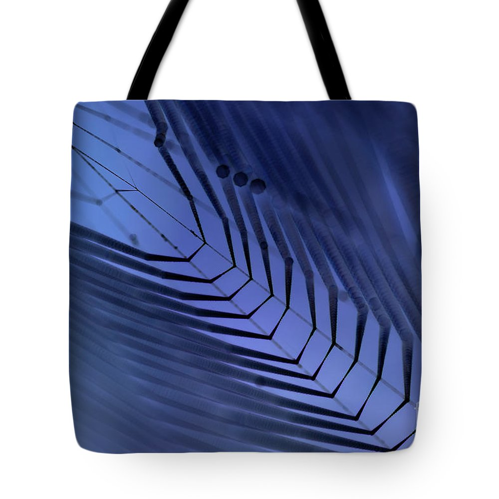 Dewy Tote Bag featuring the photograph Cobweb by Michal Boubin