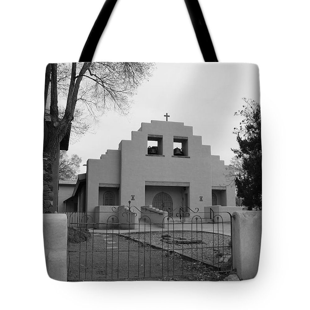 Architecture Tote Bag featuring the photograph Cochiti Church by Rob Hans