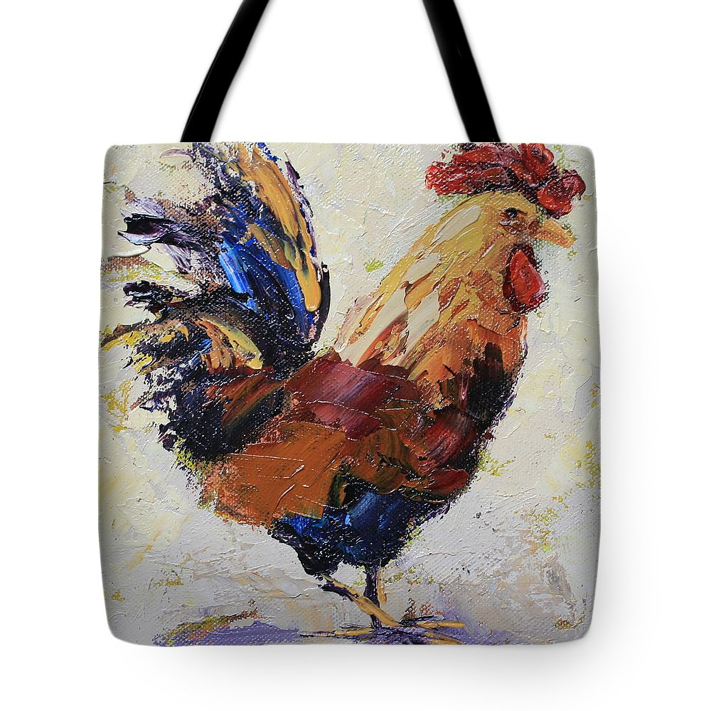 Chicken Tote Bag featuring the painting Cockrell 1 by Yvonne Ankerman