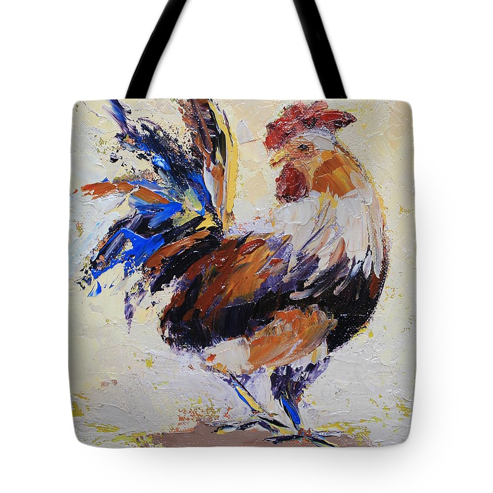 Bird Tote Bag featuring the painting Cockrell Two by Yvonne Ankerman