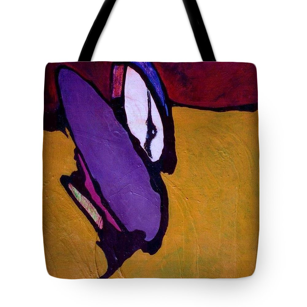 Abstract Tote Bag featuring the painting Cockroach Loosille Ball by Marlene Burns