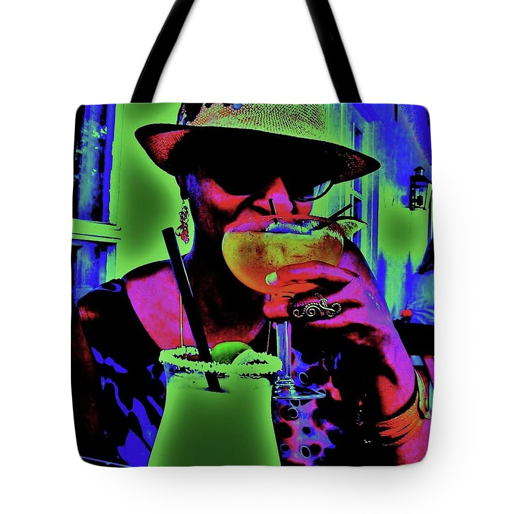 Cocktails Tote Bag featuring the photograph Cocktails Anyone by Diana Dearen