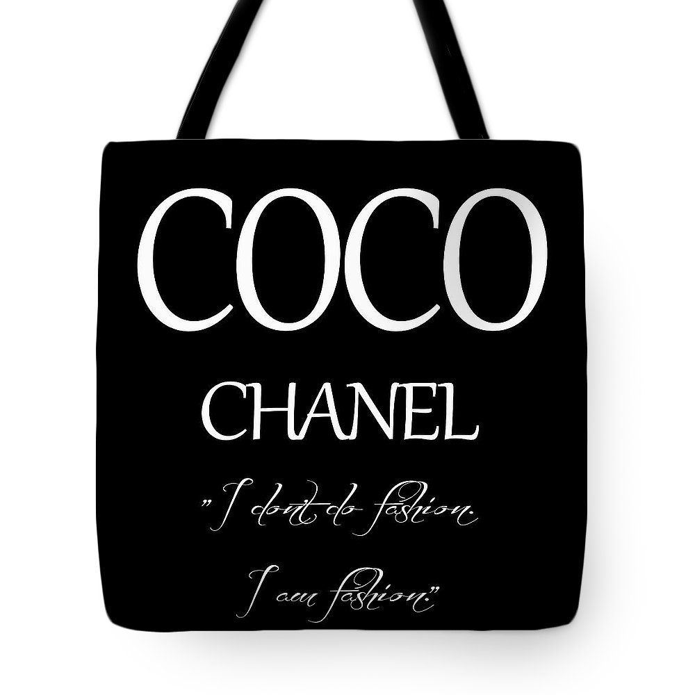 f17c7cc4642 Coco Chanel Quote Tote Bag featuring the digital art Coco Chanel Quote by Dan  Sproul