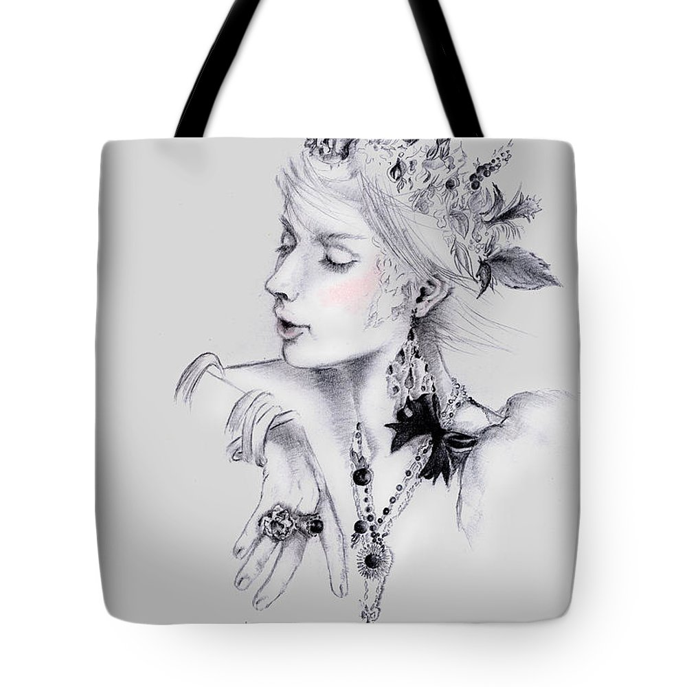 Fashion Tote Bag featuring the painting Coco by Maria Hakobyan