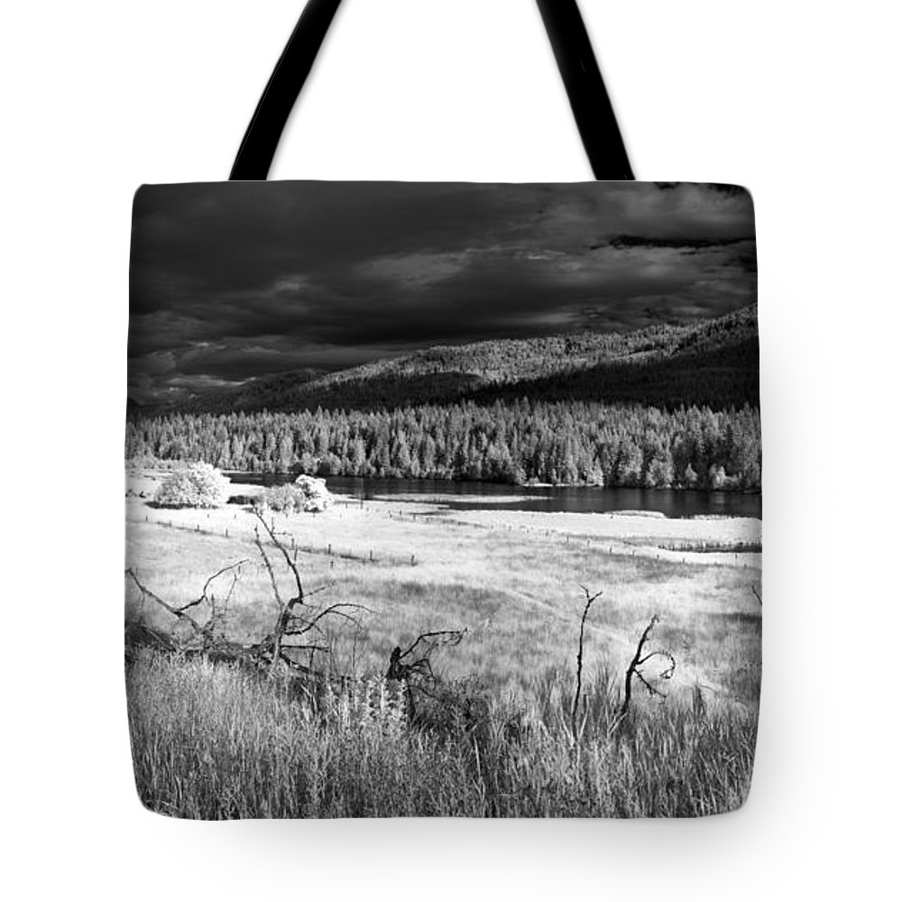 Infrared Landscape Tote Bag featuring the photograph Cocolala Creek by Lee Santa