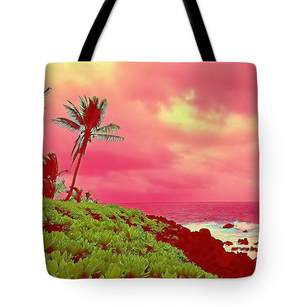 #flowersofaloha #flowers # Flowerpower #aloha #hawaii #aloha #puna #pahoa #thebigisland #pele #coconutpalmmakaipele #coconutpalm #makai Tote Bag featuring the photograph Coconut Palm Makai For Pele by Joalene Young