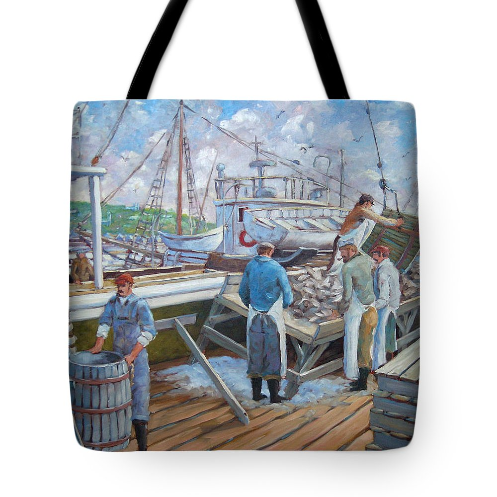 Cod Tote Bag featuring the painting Cod Memories by Richard T Pranke