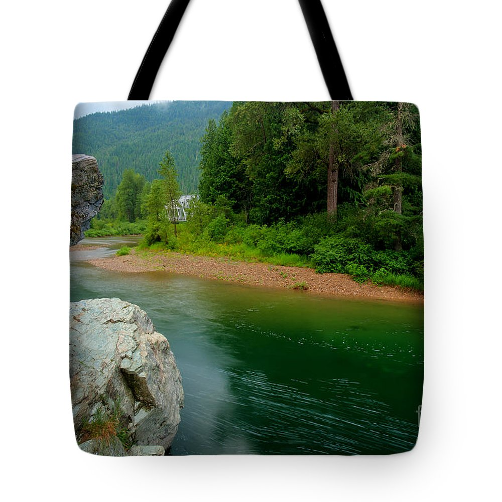 Coeur D'alene Forest Tote Bag featuring the photograph Coeur D'alene River by Idaho Scenic Images Linda Lantzy