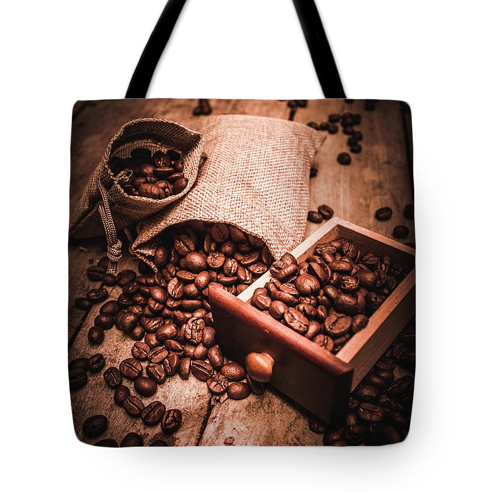 Art Tote Bag featuring the photograph Coffee Bean Art by Jorgo Photography - Wall Art Gallery