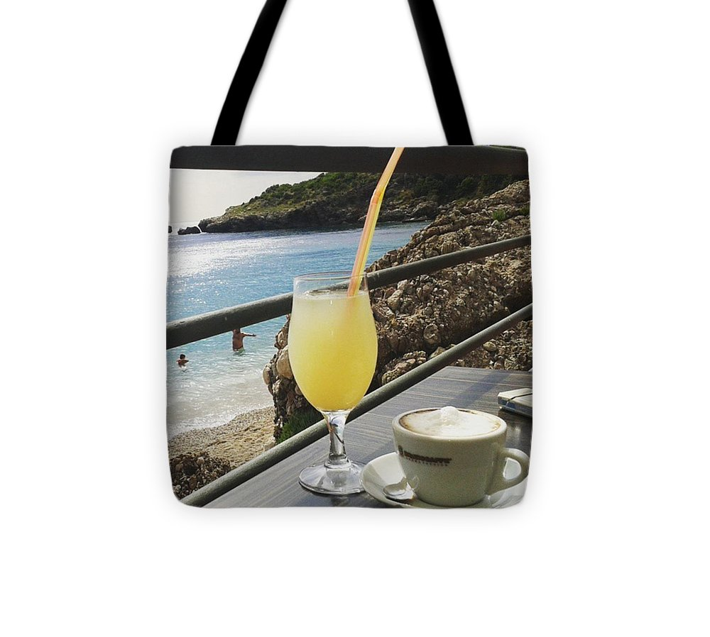 Capuccino Tote Bag featuring the photograph Perfect Breaktime by Pastime Ideas