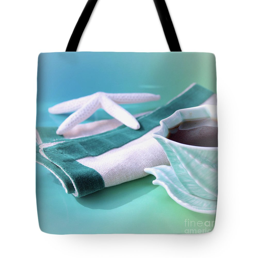 Beach House Decor Tote Bag featuring the photograph Coffee Love by Luv Photography