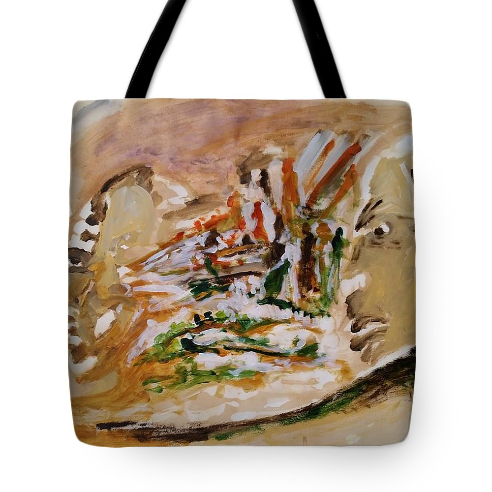 Past Tote Bag featuring the painting Coffee Papers. Sketch I Memories Are The Key Not To The Past by Bachmors Artist