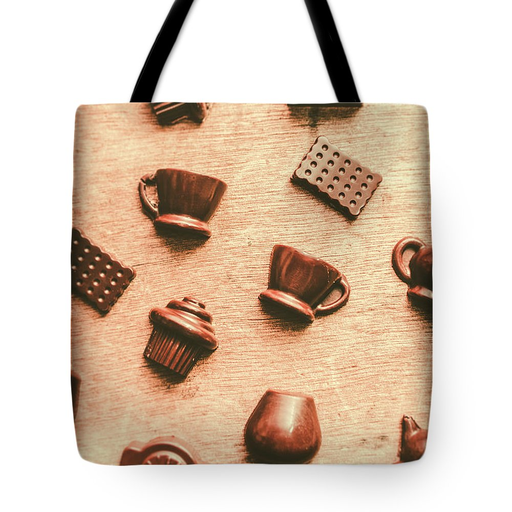 Chocolate Tote Bag featuring the photograph Coffee Shop Iconography by Jorgo Photography - Wall Art Gallery