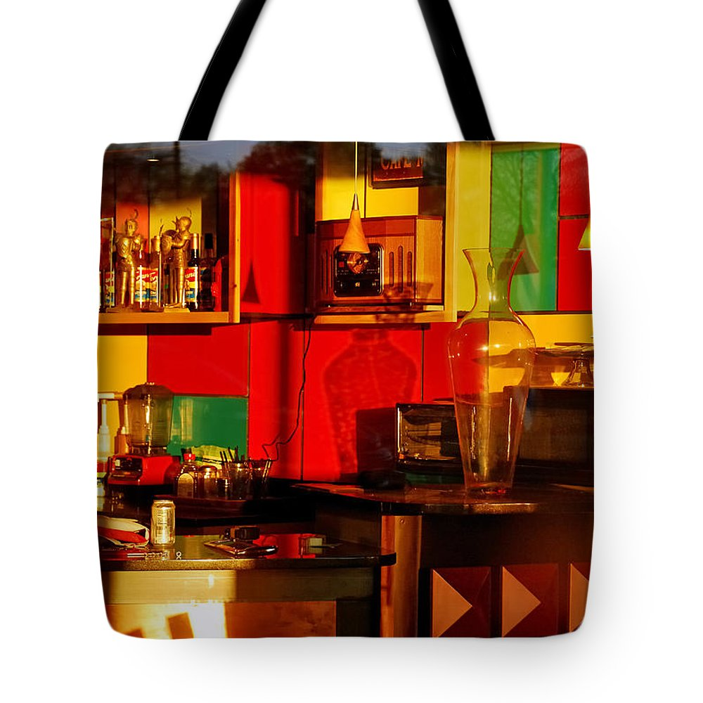 Skip Hunt Tote Bag featuring the photograph Coffee Shop by Skip Hunt