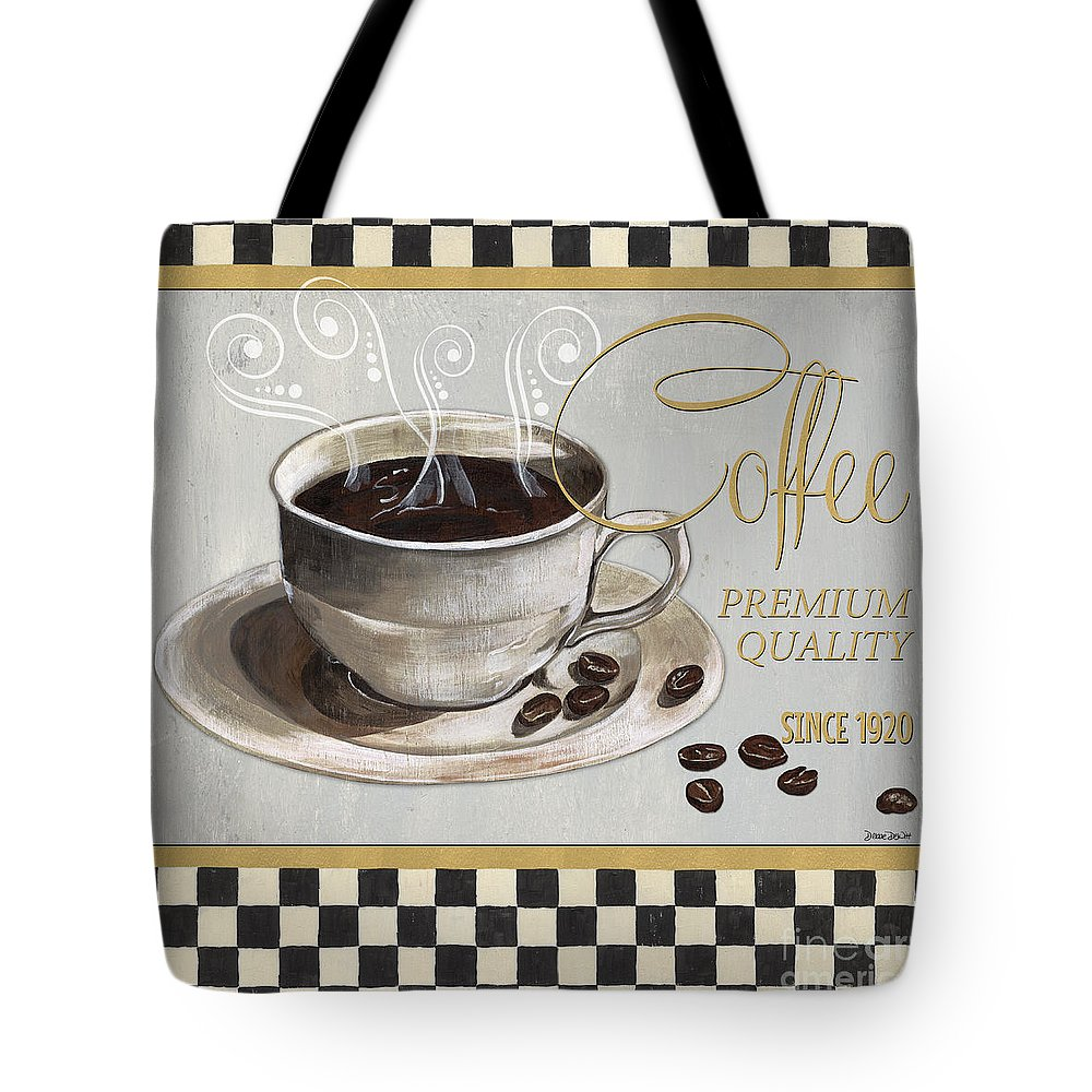Coffee Tote Bag featuring the painting Coffee Shoppe 1 by Debbie DeWitt