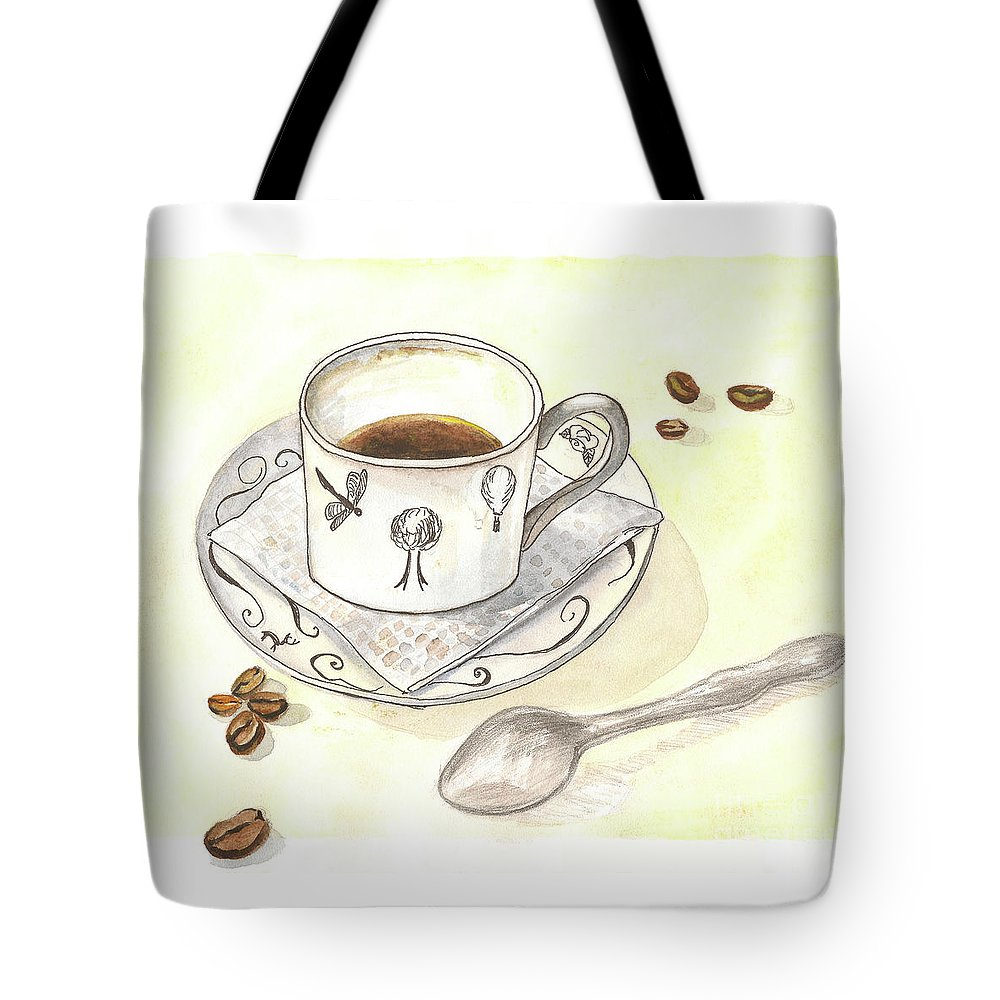 Coffee Tote Bag featuring the painting Coffee by Yana Sadykova