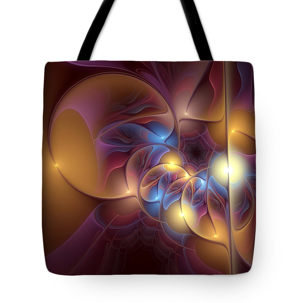 Abstract Tote Bag featuring the digital art Coherence Of Desire by Casey Kotas