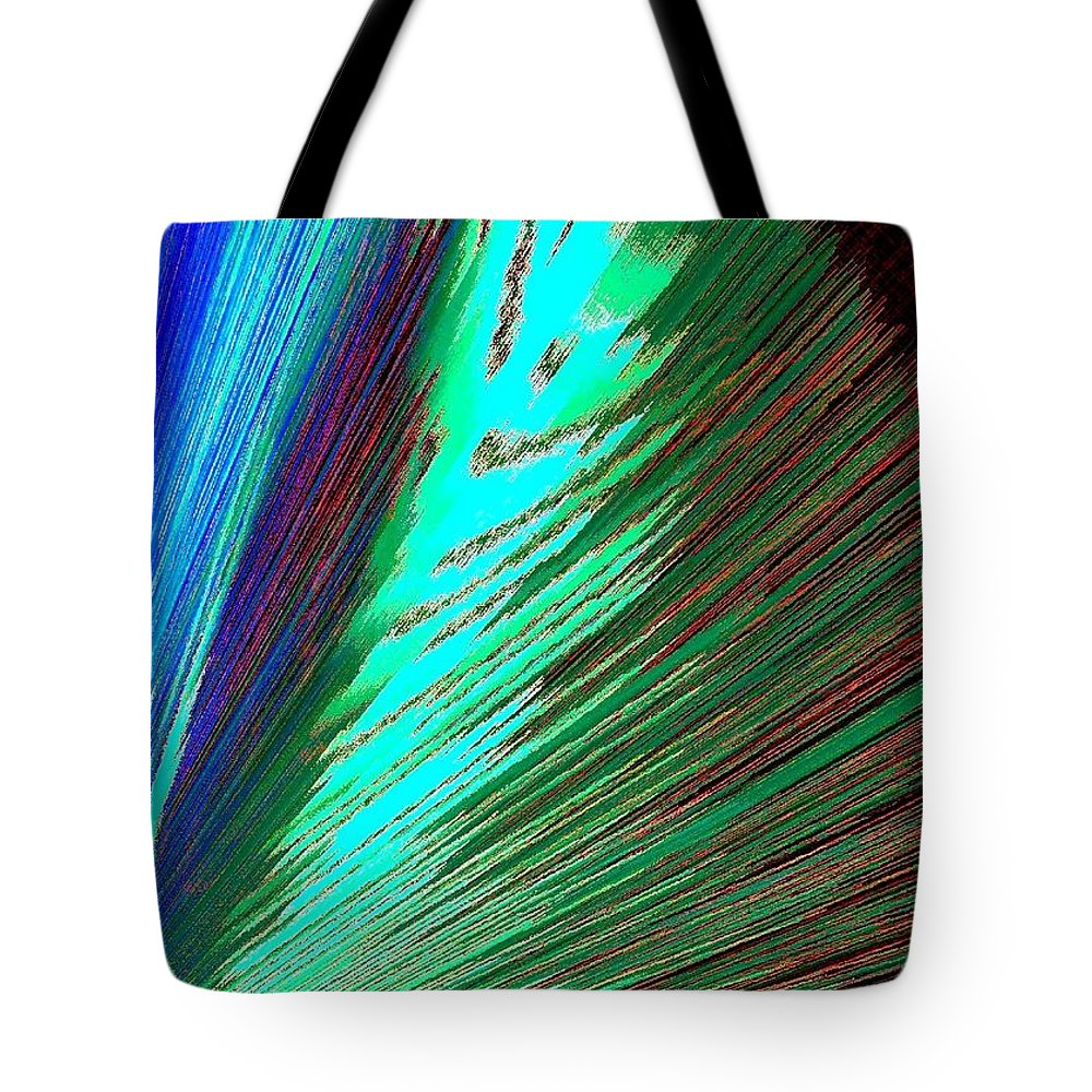 Abstract Tote Bag featuring the digital art Cohesive Diversity by Will Borden