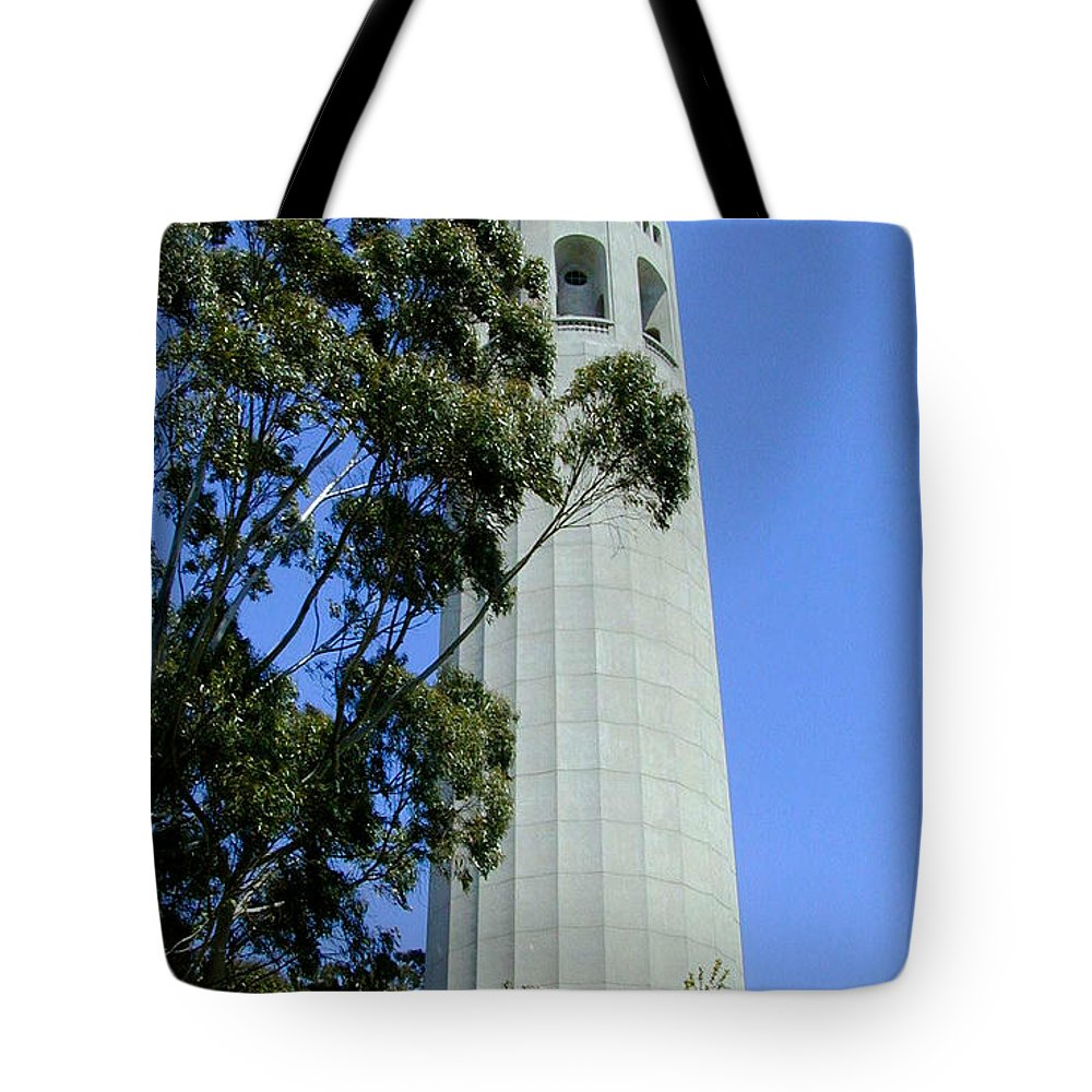 Coit Tote Bag featuring the photograph Coit Tower by Douglas Barnett