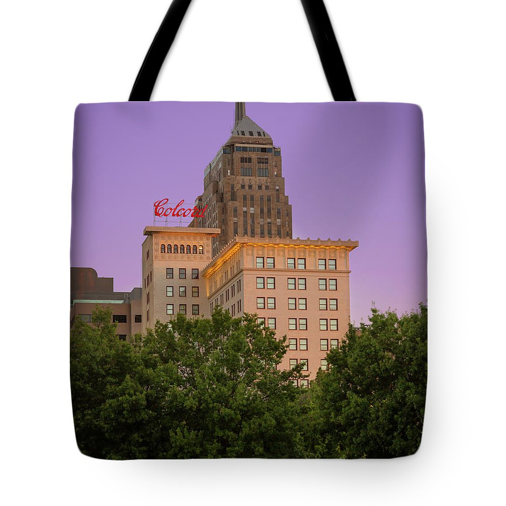 Okc Tote Bag featuring the photograph Colcord II by Ricky Barnard