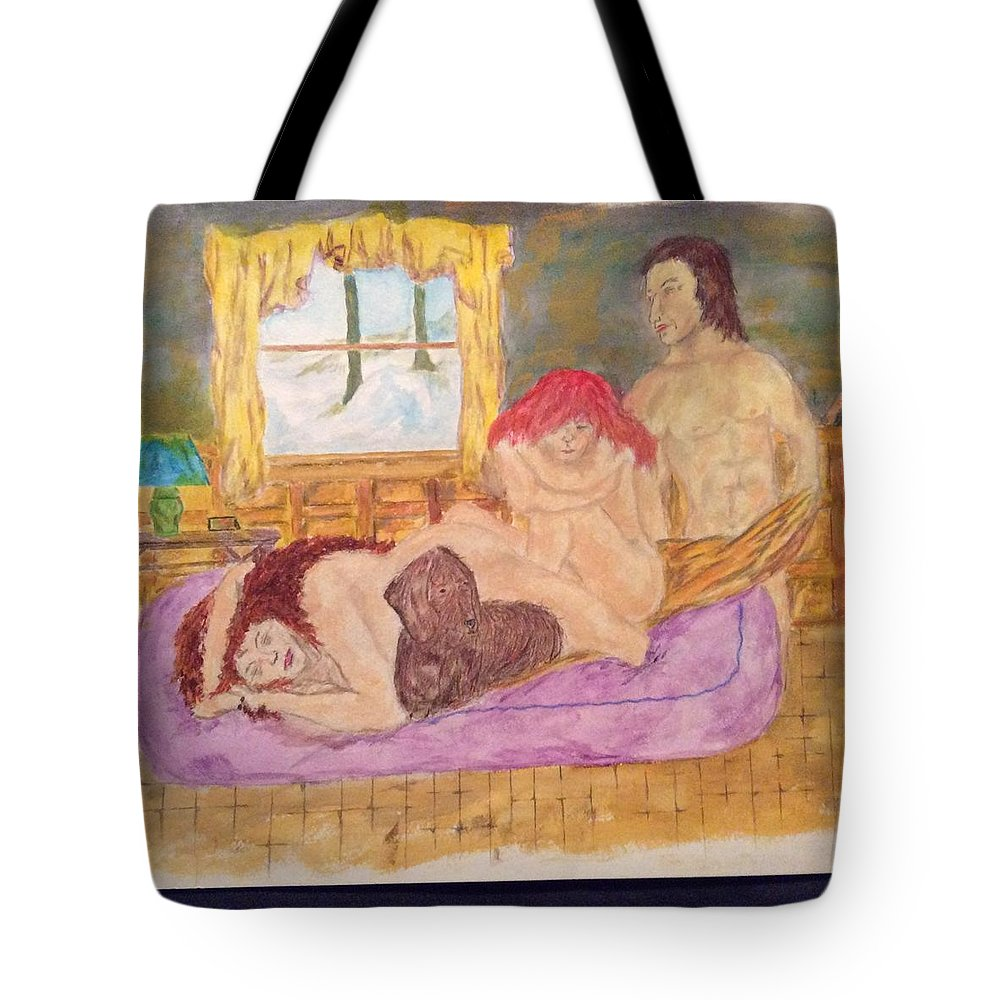 Nudes Tote Bag featuring the painting Cold Disappointing Night by Joseph Chapman