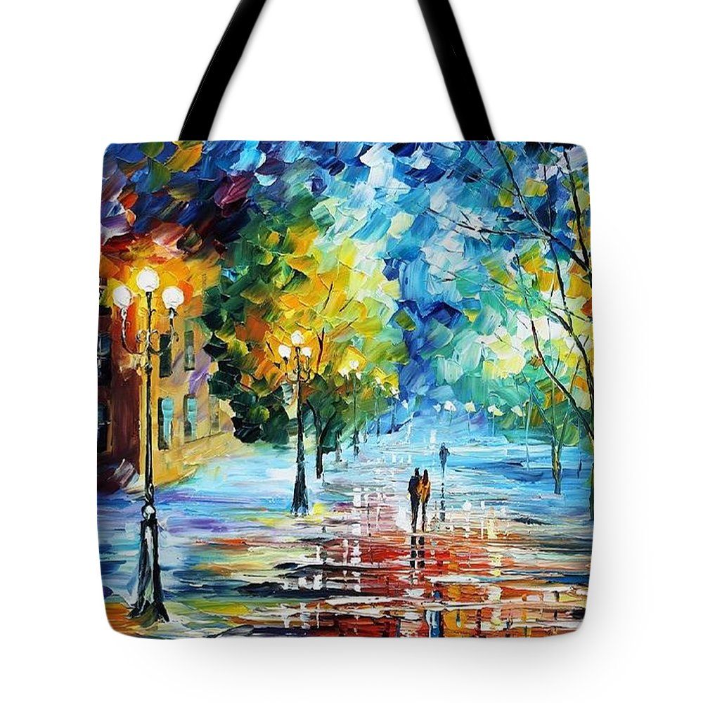 Afremov Tote Bag featuring the painting Cold Emotions by Leonid Afremov