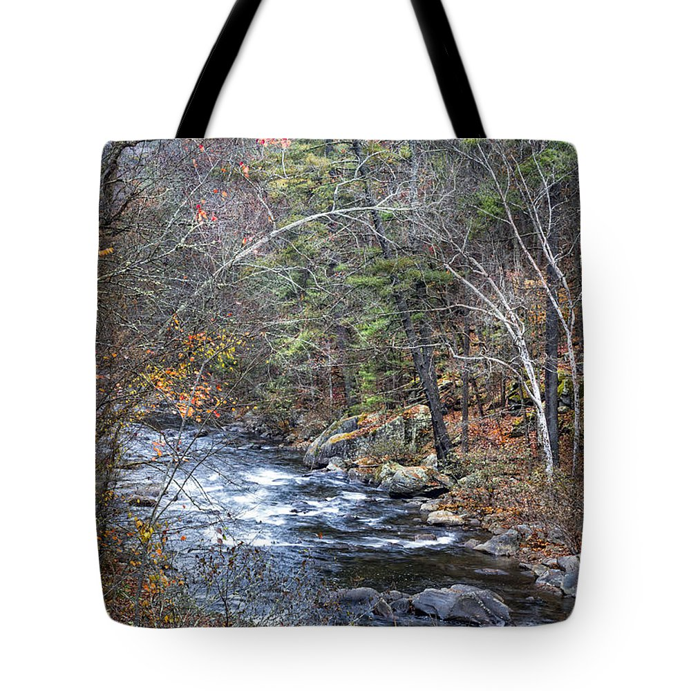 Appalachia Tote Bag featuring the photograph Cold Mountain Stream by Debra and Dave Vanderlaan