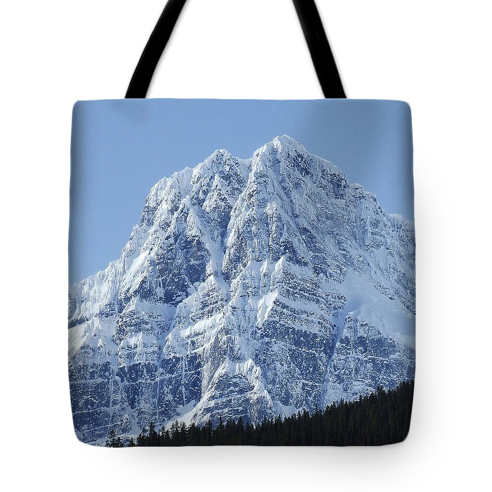 Cold Tote Bag featuring the photograph Cold Mountain- Banff National Park by Tiffany Vest