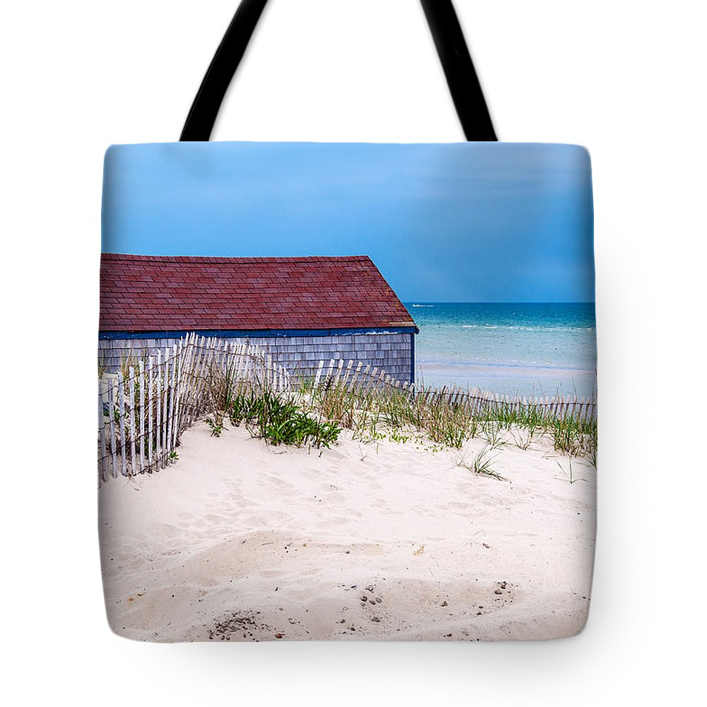Cape Cod Tote Bag featuring the photograph Cold Storage Beach by Karen Regan