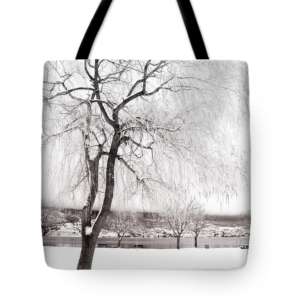 Tree Tote Bag featuring the photograph Coldness by Tara Turner