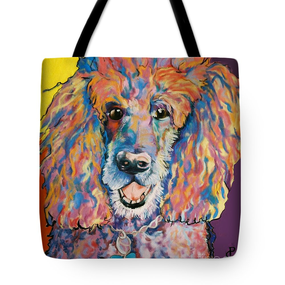 Standard Poodle Tote Bag featuring the painting Cole by Pat Saunders-White