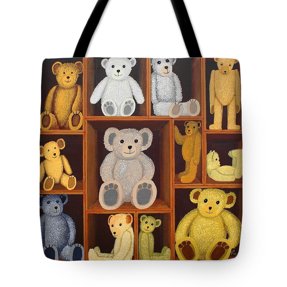 Collectable Tote Bag featuring the painting Collectables by Frank Hamilton