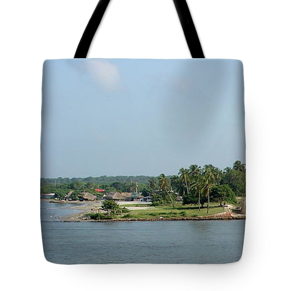 Fortress Tote Bag featuring the photograph Colombian Fortress by Brett Winn