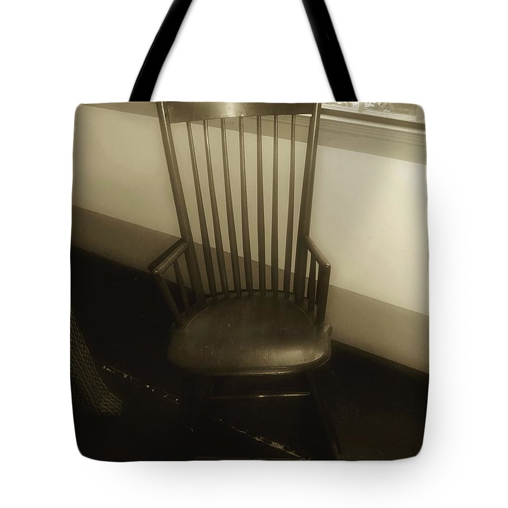 Antique Tote Bag featuring the photograph Colonial Comfort by RC DeWinter
