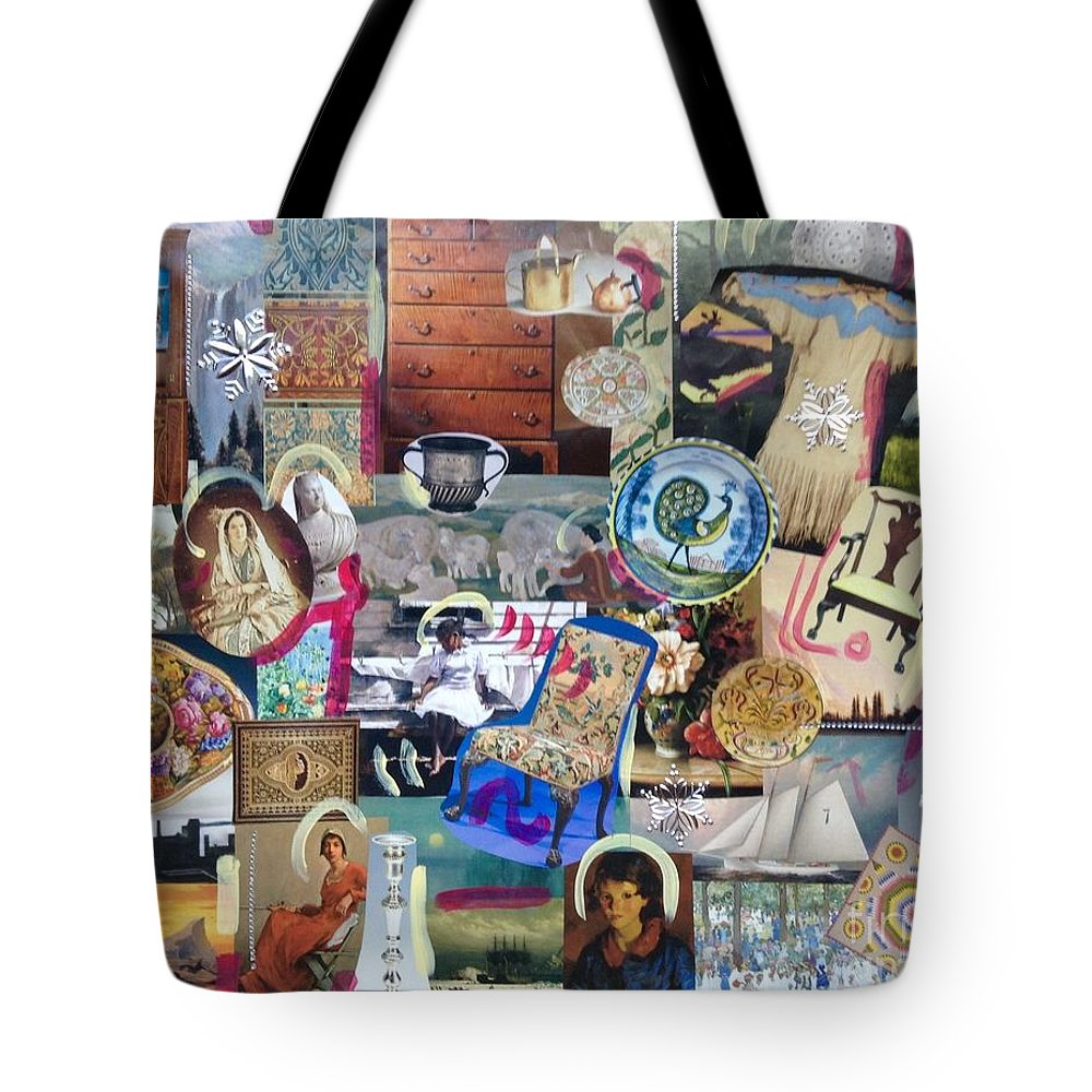 History Americana Tote Bag featuring the photograph Colonial Heritage - Panel 4 by Margaret Lindsay Holton