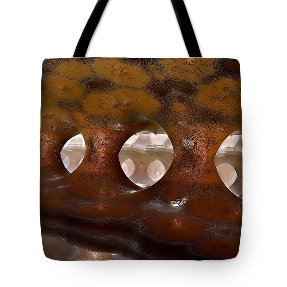Fractal Tote Bag featuring the digital art Colonnade Mysteria by Richard Ortolano