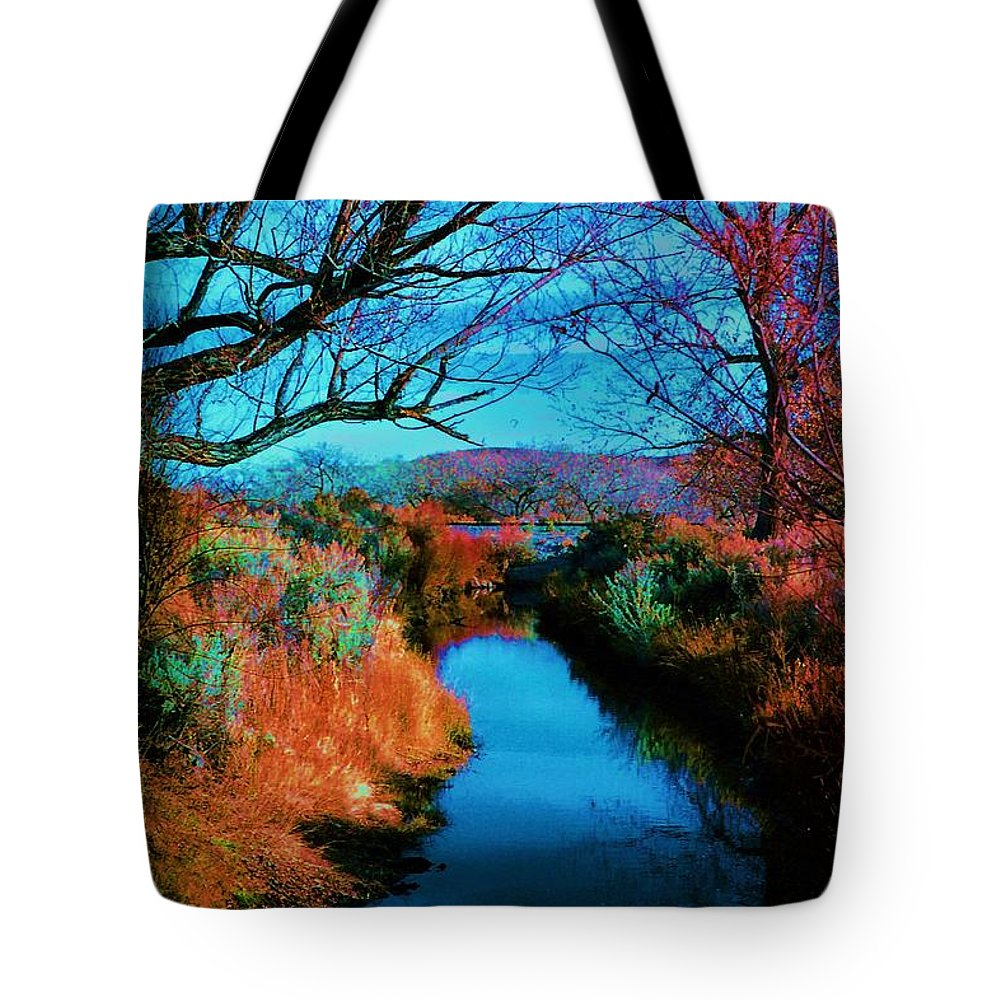 Color Tote Bag featuring the photograph Color Along The River by Diana Dearen