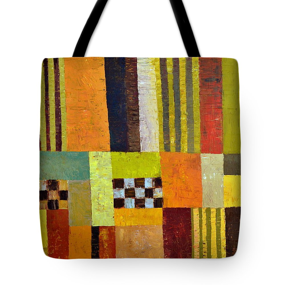 Colorful Tote Bag featuring the painting Color And Pattern Abstract by Michelle Calkins