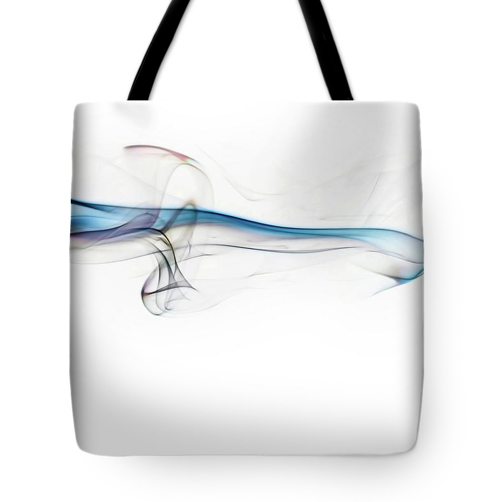 Abstract Tote Bag featuring the photograph Color And Smoke V by Scott Norris