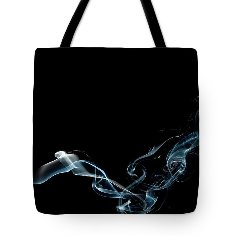 Abstract Tote Bag featuring the photograph Color and Smoke VI by Scott Norris