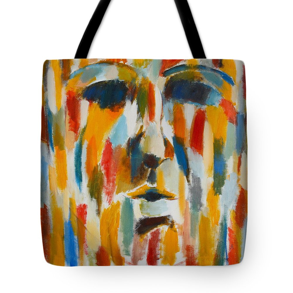 Yellow Tote Bag featuring the painting Color Blind by Habib Ayat