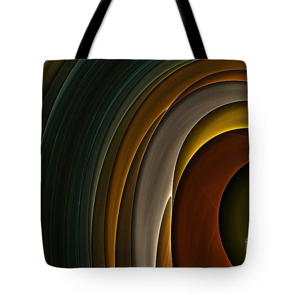 Digital Tote Bag featuring the digital art Color Curves by Deborah Benoit