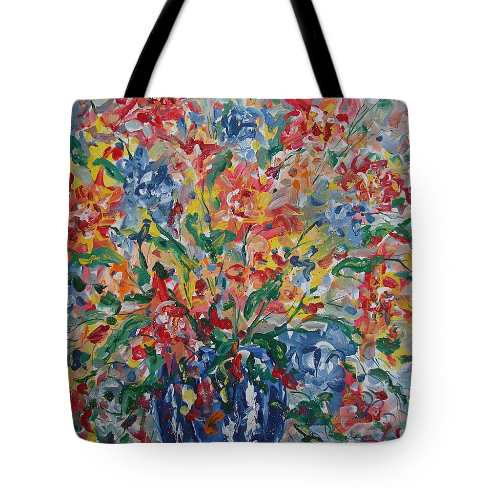 Painting Tote Bag featuring the painting Color Expressions. by Leonard Holland