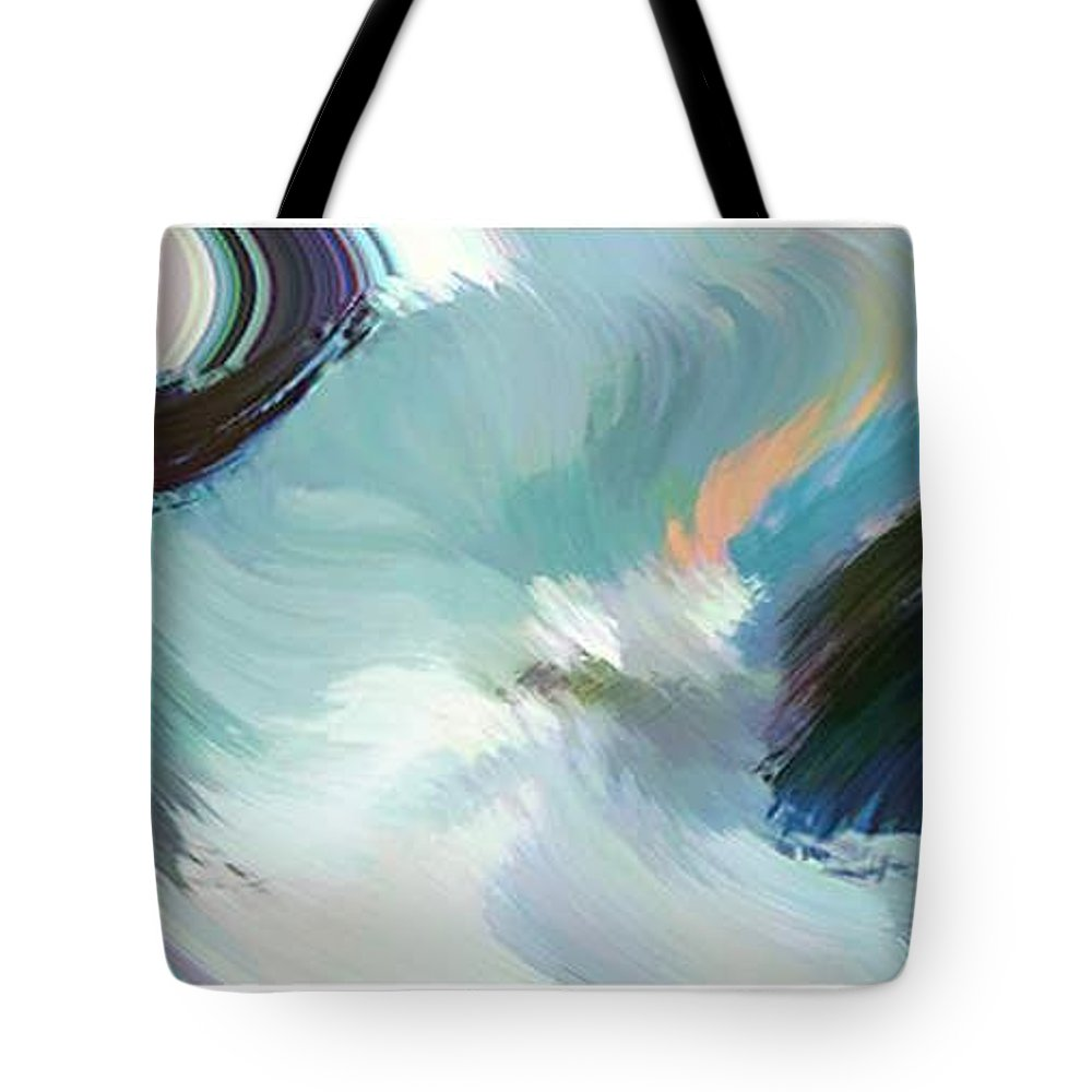 Landscape Digital Art Tote Bag featuring the digital art Color Falls by Anil Nene