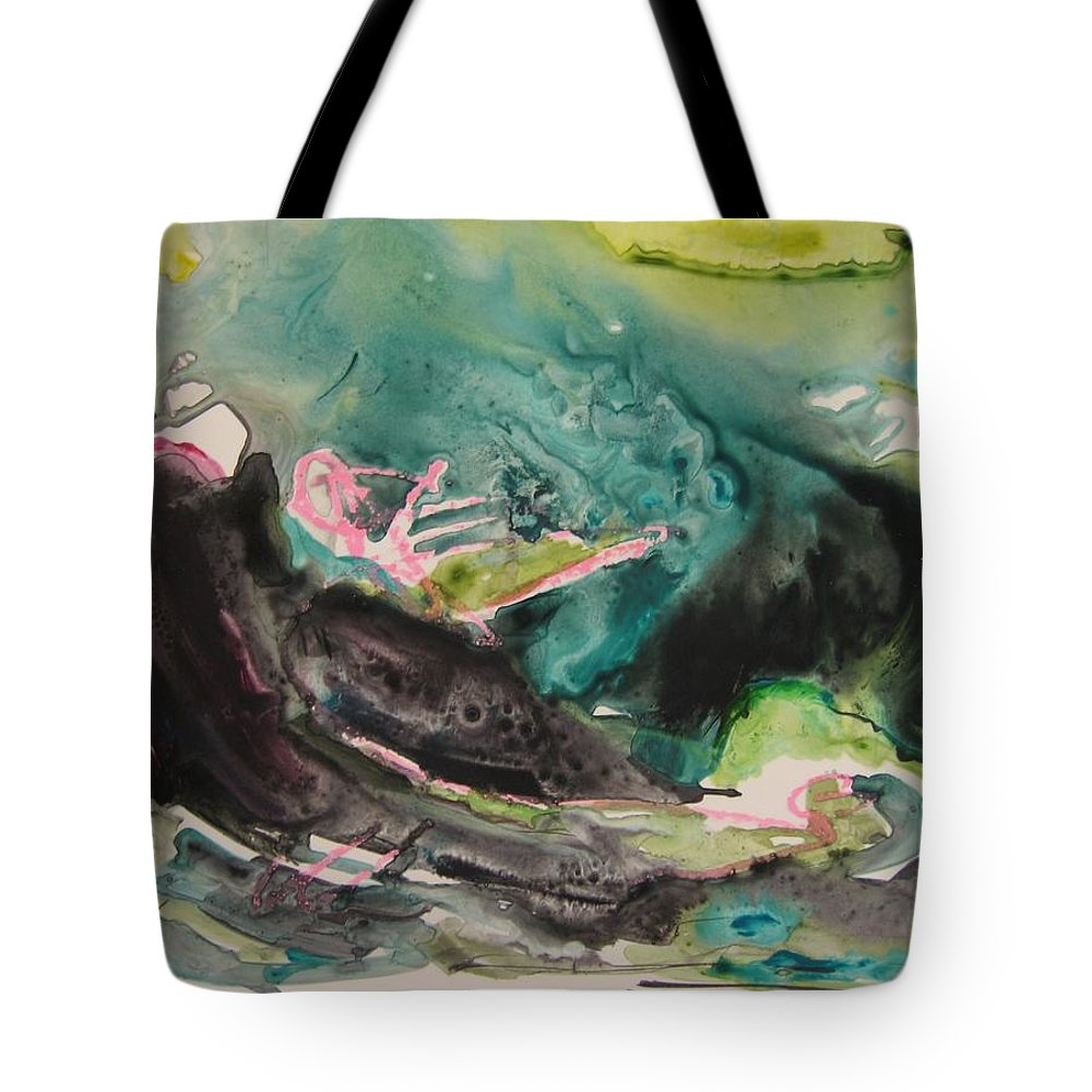 Abstract Paintings Tote Bag featuring the painting Color Fever Series009 by Seon-Jeong Kim