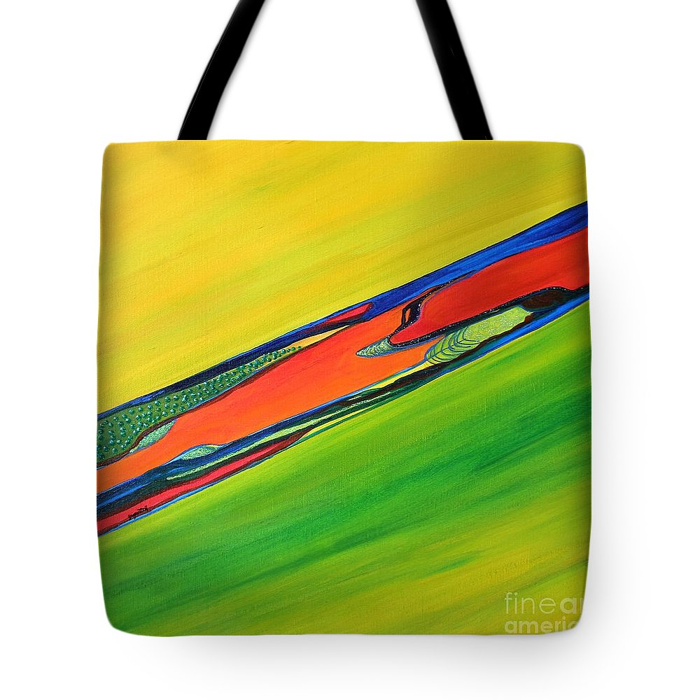Branch Tote Bag featuring the painting Color I by Zoe Vega Questell